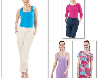 McCall's Pattern M6355 Misses' Tops and Dresses
