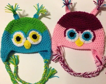 Sassy Owl Crochet Hat Pattern