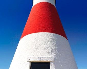 Nantucket Photo Print Sankaty Head Lighthouse Photography Red White Blue Beach Decor Large Wall Art Nautical Coastal Decor Cape Cod Picture