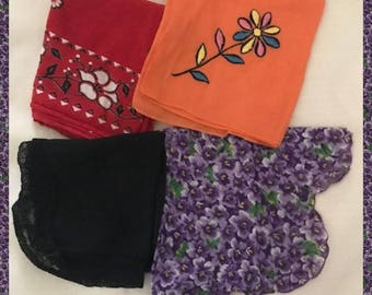 Vintage Handkerchiefs from the 1950s to 70s
