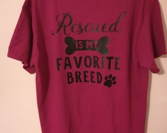 Rescue Dog Shirt-Favorite Breed