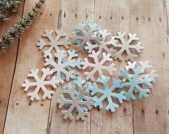 Snowflake Confetti,PICK COLORS,Metallic snowflake,Snowflake die cuts,Winter wedding decor,Snowflake table scatter,Winter Wonderland decor