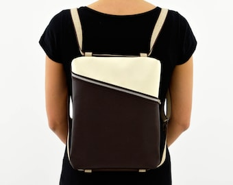 Backpack, handbag and shoulder bag//BEESBAG//3 bags in 1 bag//Eco friendly//design//ECO sustainable//Cruelty free//fashion made in Italy