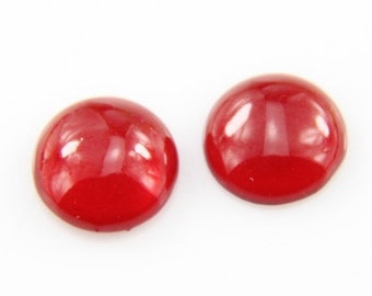12pcs of resin sparkle dome 12mm round  RC1021-7-siam ruby