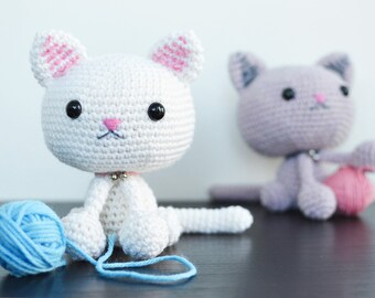 Amigurumi Kitten Patterns : Cat amigurumi pattern seamless crocheted kitten instructions