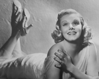 Vintage Oversized Photograph Jean Harlow from Saratoga by George Hurrell