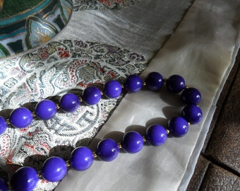 Vintage Patented Purple 30 Inch Necklace