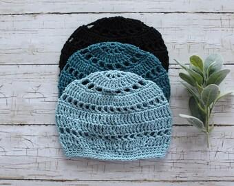 Cotton Beanie Hat | Lightweight Beanie Boho Hat | Crochet Spring Hat | Spring Hat | Summer Beanie