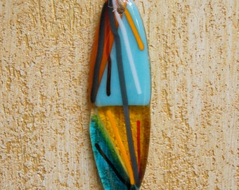 Fused Glass Surfboard