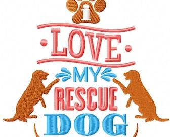 Machine Embroidery Design - Rescue Dogs #02