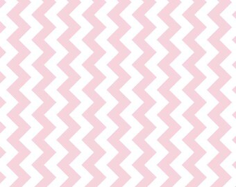 "Small Chevron Extra Wide Fabric 57"" Baby Pink  Chevron Riley Blake Designs Manufactures Cut - Baby Pink ""Chevron"" by Riley Blake Designs. ."