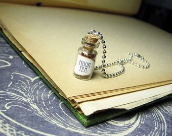 Game of Thrones MOON TEA 1ml Glass Bottle Necklace Charm - Cork Vial Pendant - Westeros Song of Ice & Fire