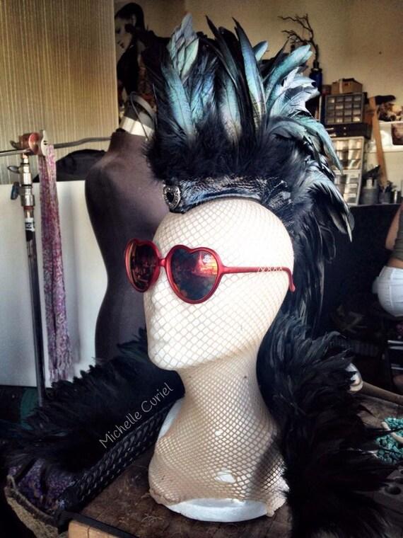 "Feather Mohawk & Feather Shrug - ""Aliksa"""