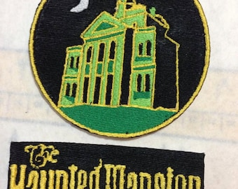 Iron On Patch Inspired Fan Art Haunted Mansion 2-Patch Set