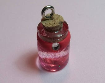 Miniature Glass Bottle Charm