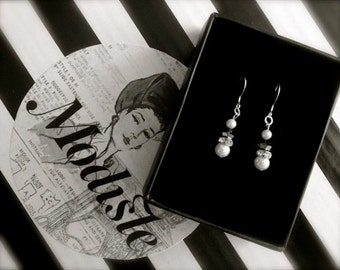 Bridal Earrings -Margot design Sterling Silver earrings Wedding Jewellery Bridesmaids gifts Mother of the Bride Jewellery