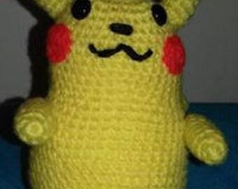 Crocheted Amigurumi pikachu