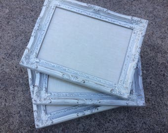 Ivory frames, cream frames, off white frames, Shabby Chic Frame Set,  three frames, Gallery Wall, painted frames, Frame set, matching frames