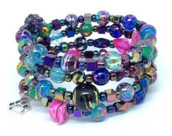 BEIJING BLING Coil Beaded Bracelet by Beading Divas fundraiser