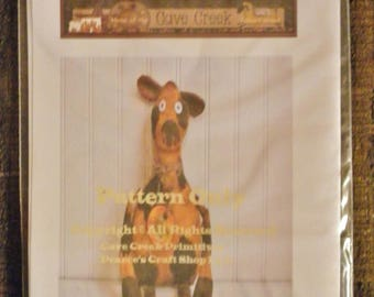 Primitive Spotted Cow Printed Pattern, Animal Patterns, Cow Doll Patterns