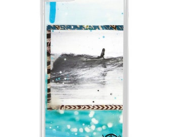 NEW iPhone 7/7+ Case,  SHE SLIDES, Best Seller, Hawaii, Beach, Surf, Surf Art, Tropical, Art, Avail. with Black or White case color