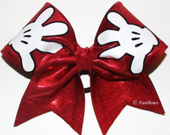 New 2014 Design Mickey Hands Cheer Bow  - a Funbows original