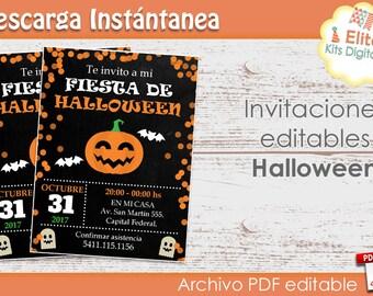 Halloween Party Invitation Printables - Halloween Invitation - Kids Halloween Invitations - Halloween Party Supplies - Halloween Ideas