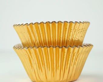 Metallic Gold Foil Cupcake Liners Baking Cups- 45 Ct.
