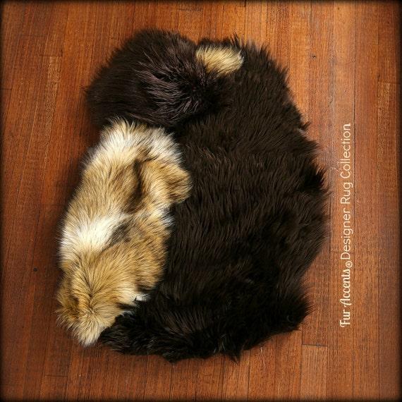 Faux Fur Sheepskin Throw Rug Shaggy Soft Thick Dog
