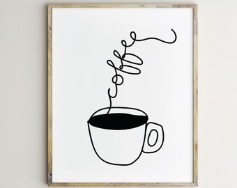 Wonderful Coffee Artwork, Coffee Print, Coffee Art, Coffee Art Print, Coffee Design,