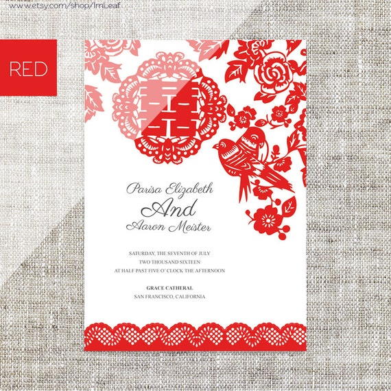 Diy printable editable chinese wedding invitation rsvp card for Chinese wedding invitations etsy