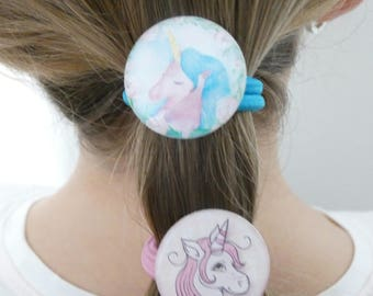 "Unicorn pony tail ""Unicorn hair elastic"" hair accessory"