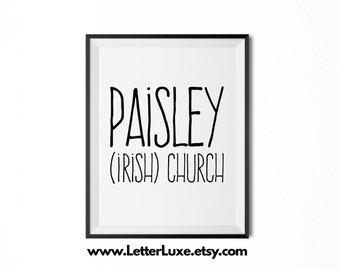 Paisley Name Meaning Art - Printable Baby Shower Gift - Nursery Printable Art - Digital Print - Nursery Decor - Typography Wall Decor