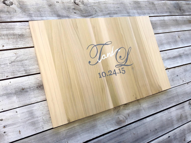 Wedding Guest Book Sign, Rustic Wood Guestbook Alternative, Wooden ...