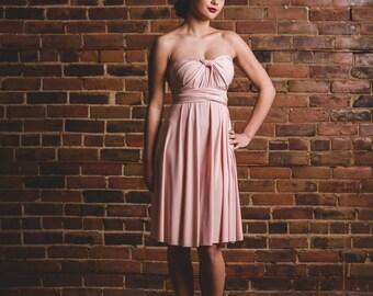 Coralie short infinity dress // flowy convertible bridesmaid octopus wrap dress, weddings, prom, maternity