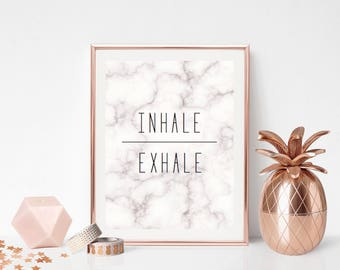 Inhale - Exhale - Marble Effect Print