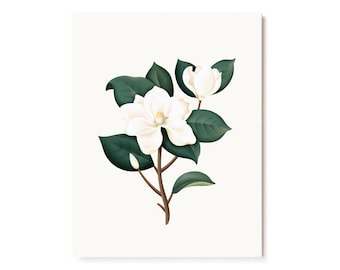 Botanical Scented Card - Magnolia
