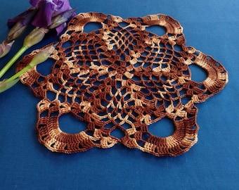 READY TO SHIP Crochet doily-Crochet doilies-Small doily-Round doily-Home decor-Color crochet doily-Melange doily-Mother's Day-tablecloth