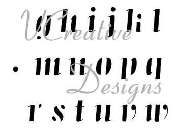 Jazz Lower Alphabet stencil