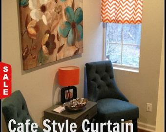 Chevron Cafe Curtain, Kitchen Valance, Nursery Decor, Chevron Home Decor, Curtains, Bathroom Decor