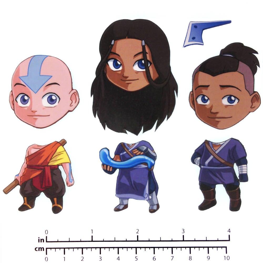 1 Avatar: Mix And Match Magnets: Aang Katara Sokka Avatar Set 1