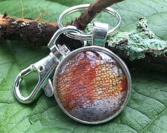 Reptile Skin Keychain Pendant - Panther Chameleon Skin