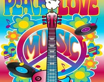 Peace Love Music Magnet