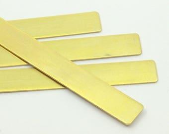 Diy Bracelet Blank, 75 Raw Brass Bracelet Stamping Blanks, Bangles ( 145x10x0.80mm) D250