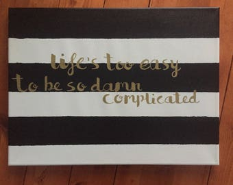 Custom 12x16 Hand Painted Canvas Sign - Keep Me In Mind Lyrics by Zac Brown Band