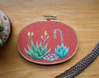 Cactus Hoop Art, Cactus Art, Embroidery Hoop Art, Cactus Wall Art, Cactus Embroidery, Embroidery, Plant Embroidery, Hoop Art