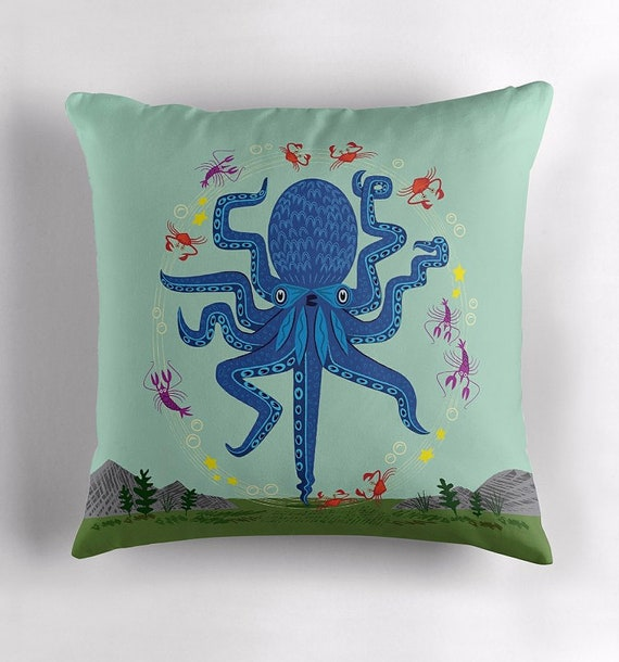 Otto Learns How to Juggle - Throw Pillow / Cushion Cover including insert by Oliver Lake - iOTA iLLUSTRATiON
