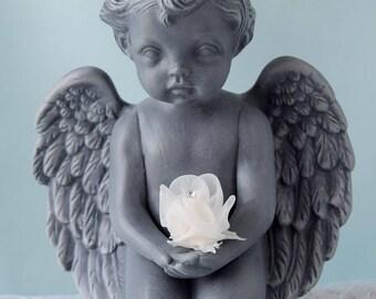 Cherub Statue - Valentines Decor - Valentines Day Gift for her - Cherub Figurine - Cupid Decor - Baby Angel Figurine - Angel Decor