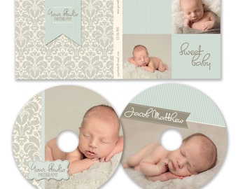 INSTANT DOWNLOAD  - Dvd Label and Dvd C'ase Photoshop template - 0804