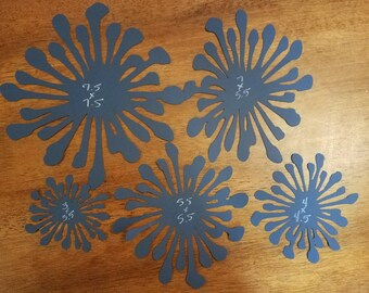 One dozen paper flower centers CHOOSE YOUR SIZE